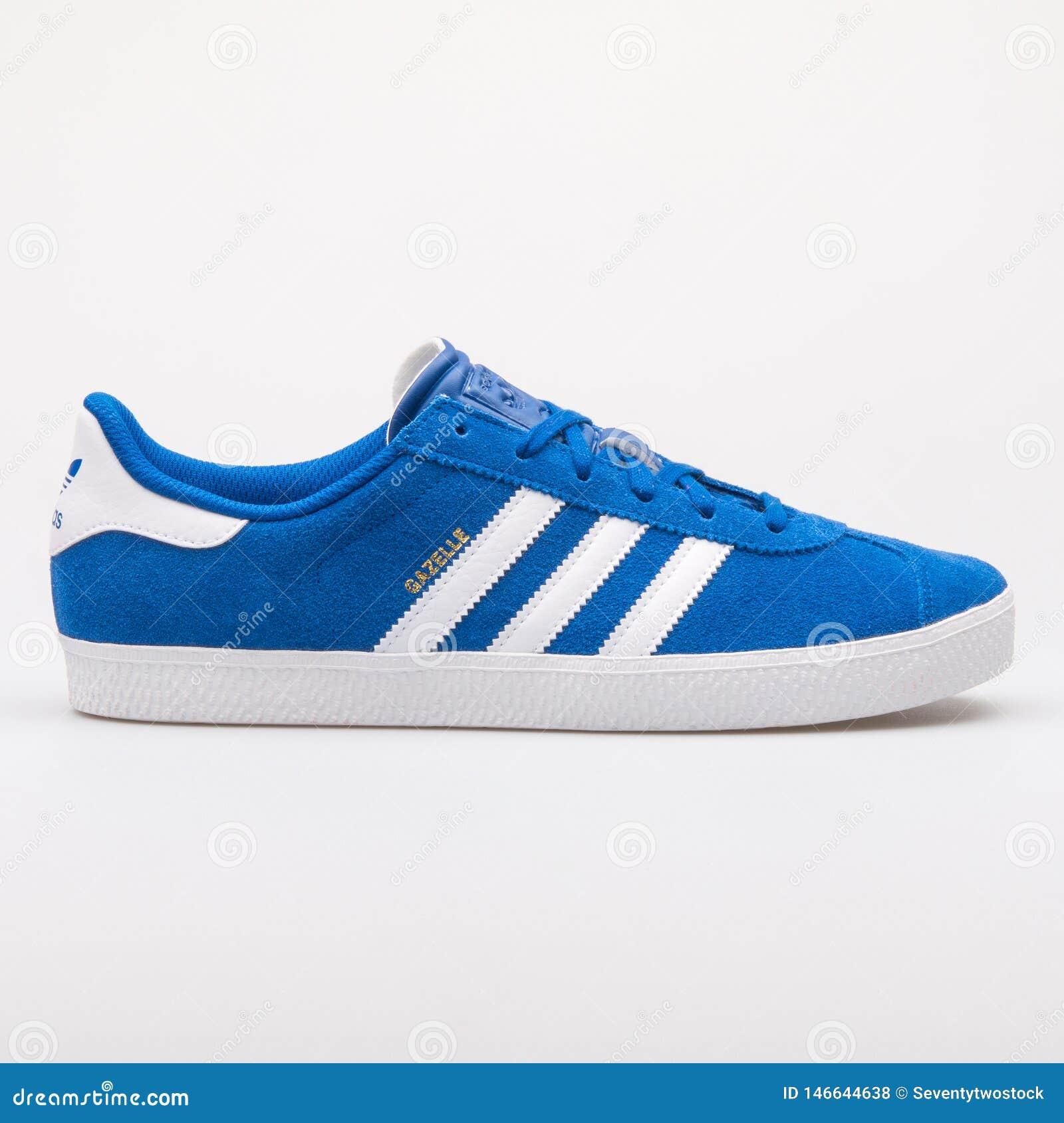 ogromna zniżka całkiem miło 100% najwyższej jakości Adidas Gazelle 2 Blue And White Sneaker Editorial Stock ...