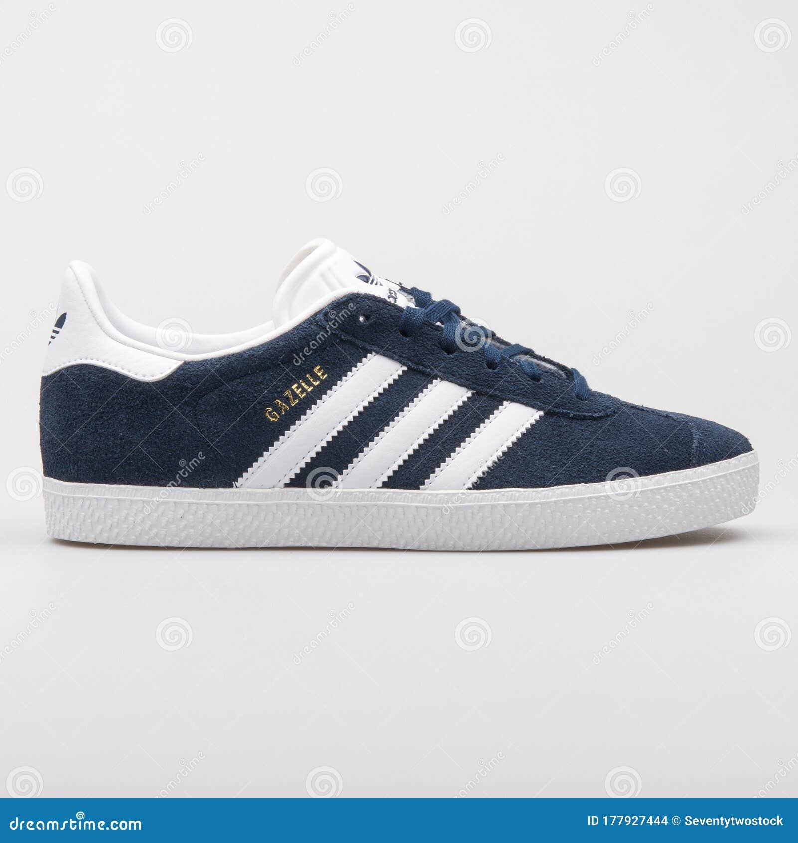 Adidas Gazelle Junior Navy Blue And