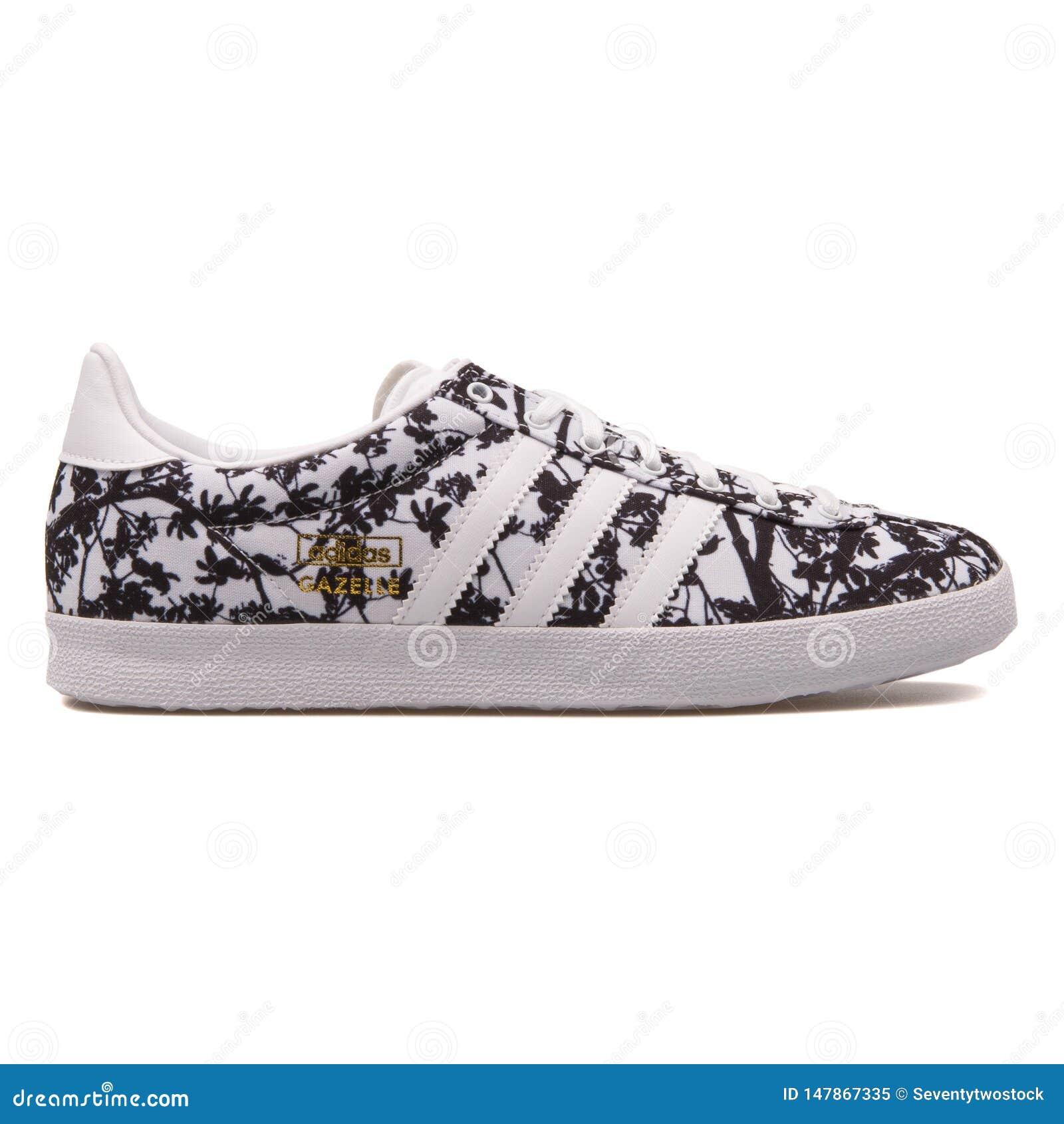tono rotación matiz  Adidas Gazelle OG Floral Black And White Sneaker Editorial Image - Image of  sneakers, shoe: 147867335
