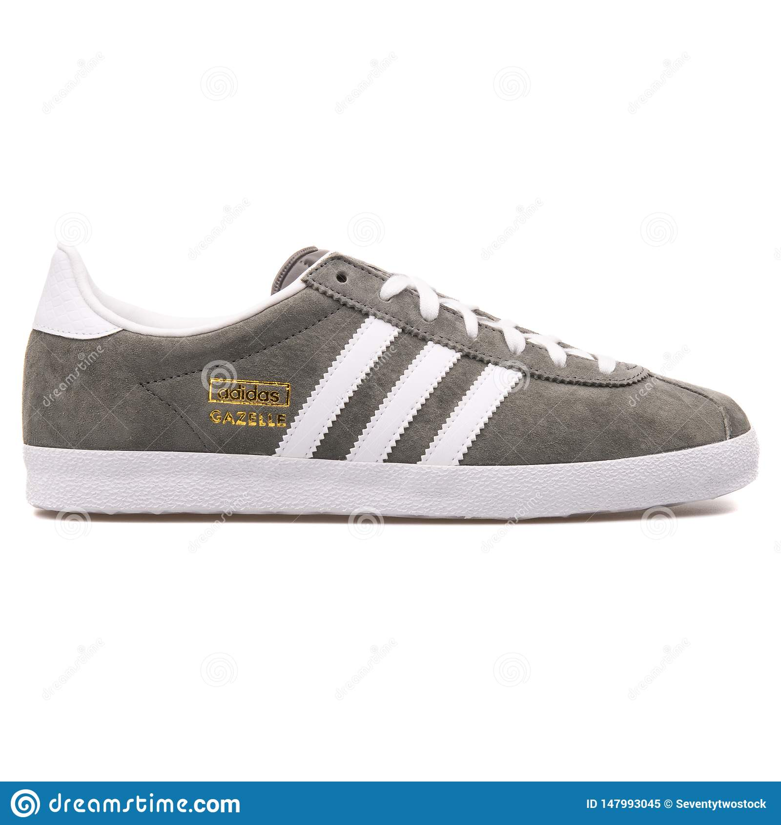 Adidas Gazelle OG Grey And White Sneaker Editorial Image - Image ...