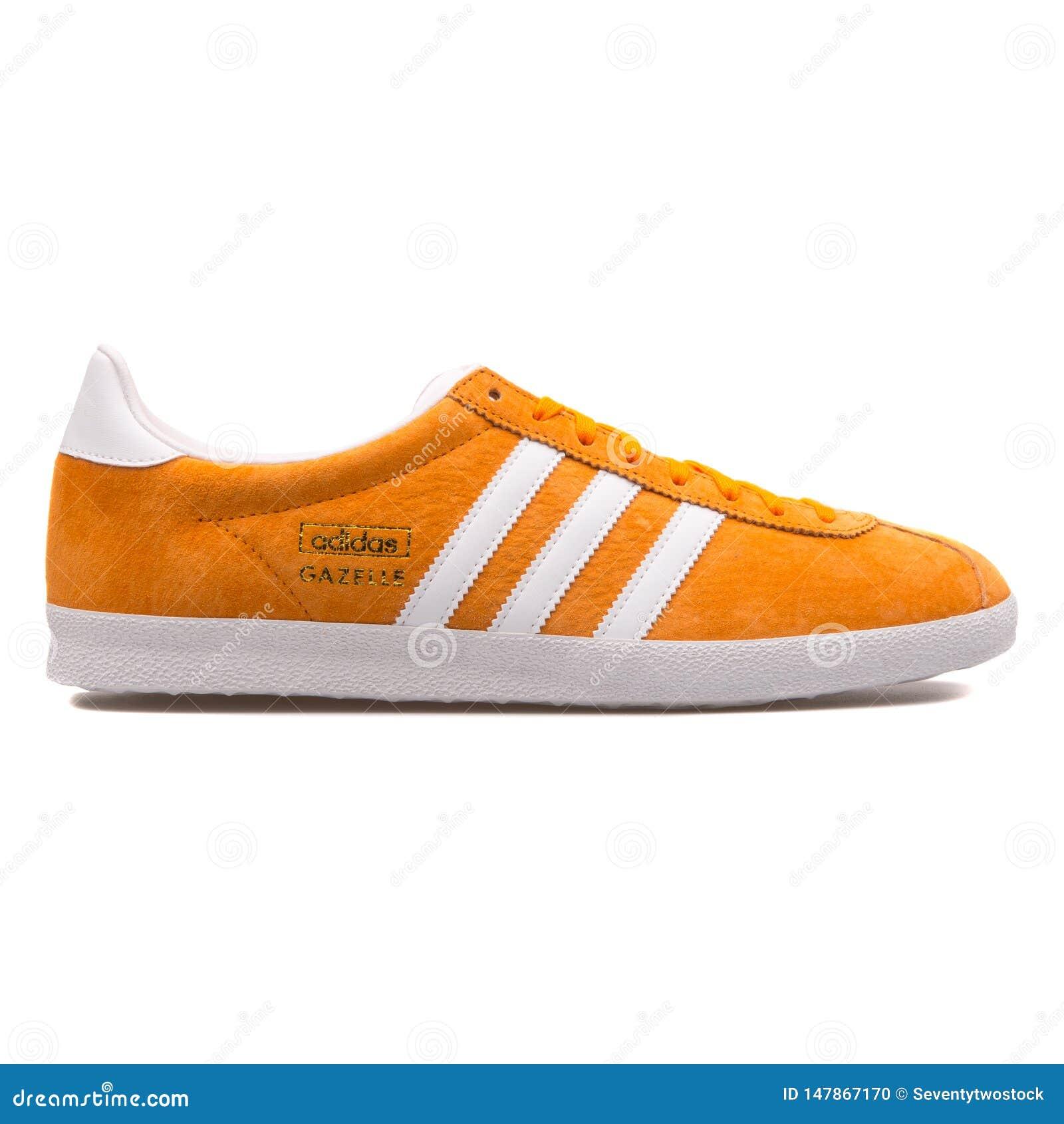 Adidas Gazelle OG Orange And White Sneaker Editorial Image ...