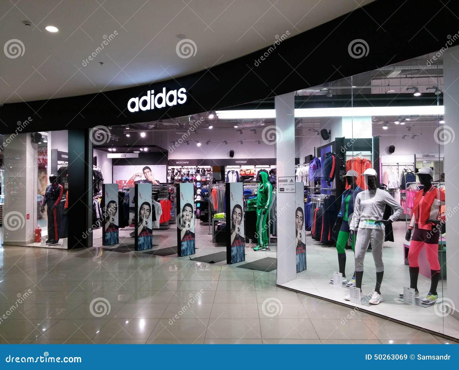 Adidas lager redaktionell fotografering för bildbyråer. Bild