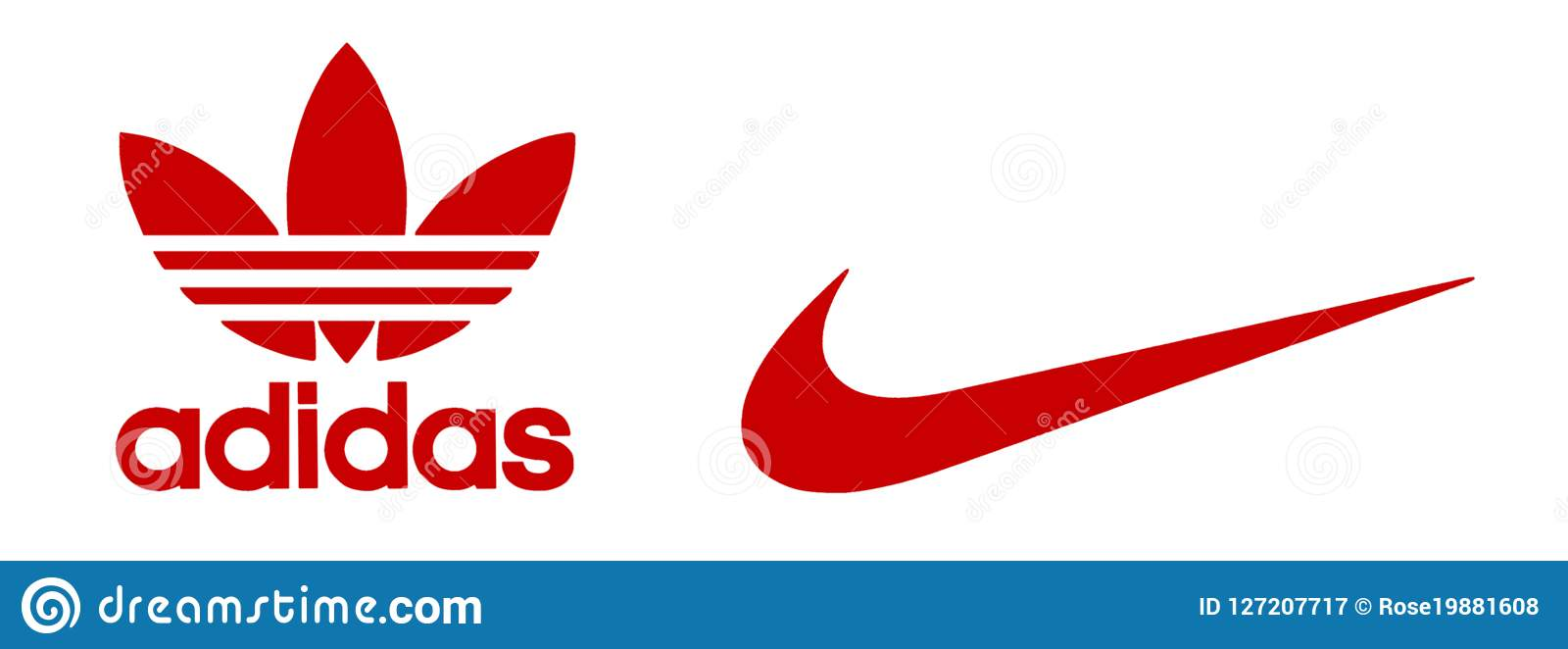 be7c723e78fe Adidas and Nike logos editorial photography. Illustration of adidas ...