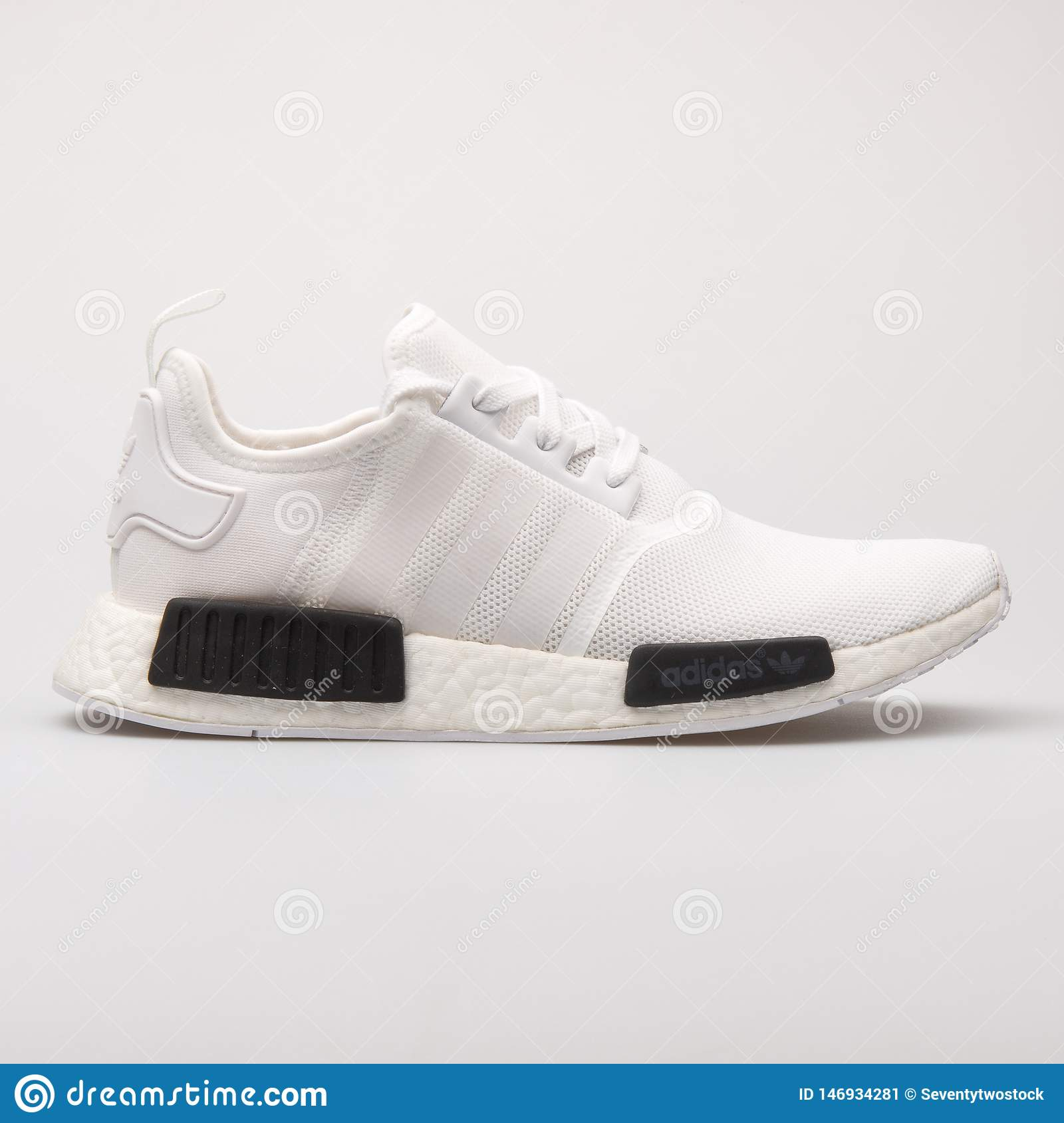 Couleurs variées 31f79 ff9eb Adidas NMD R1 White Sneaker Editorial Photo - Image of shoes ...