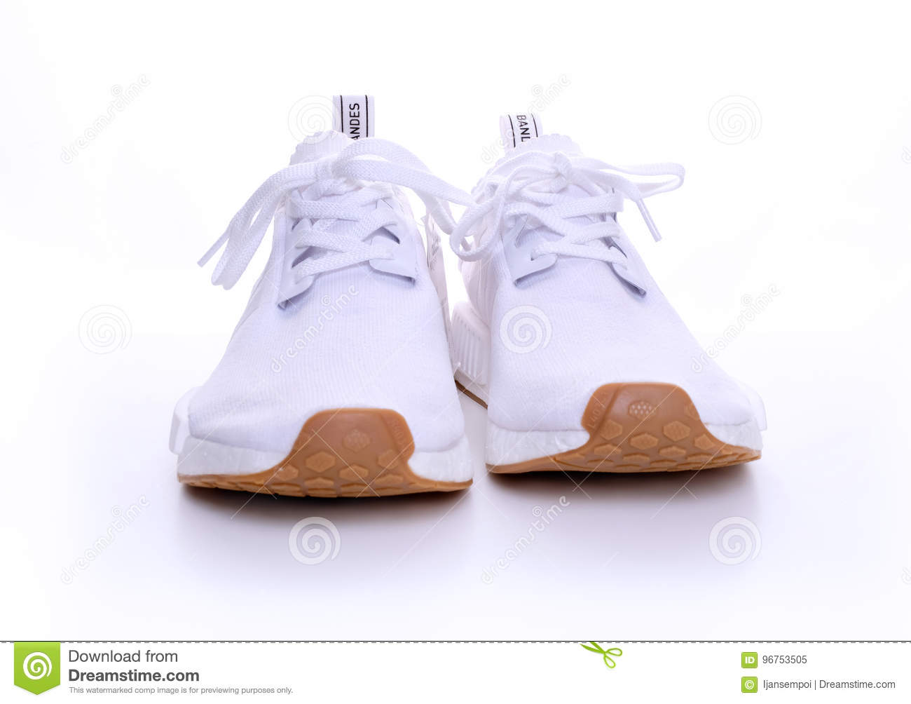 a98b222bb1c7d Adidas Original NMD R1 Gum Pack All White Editorial Image - Image of ...