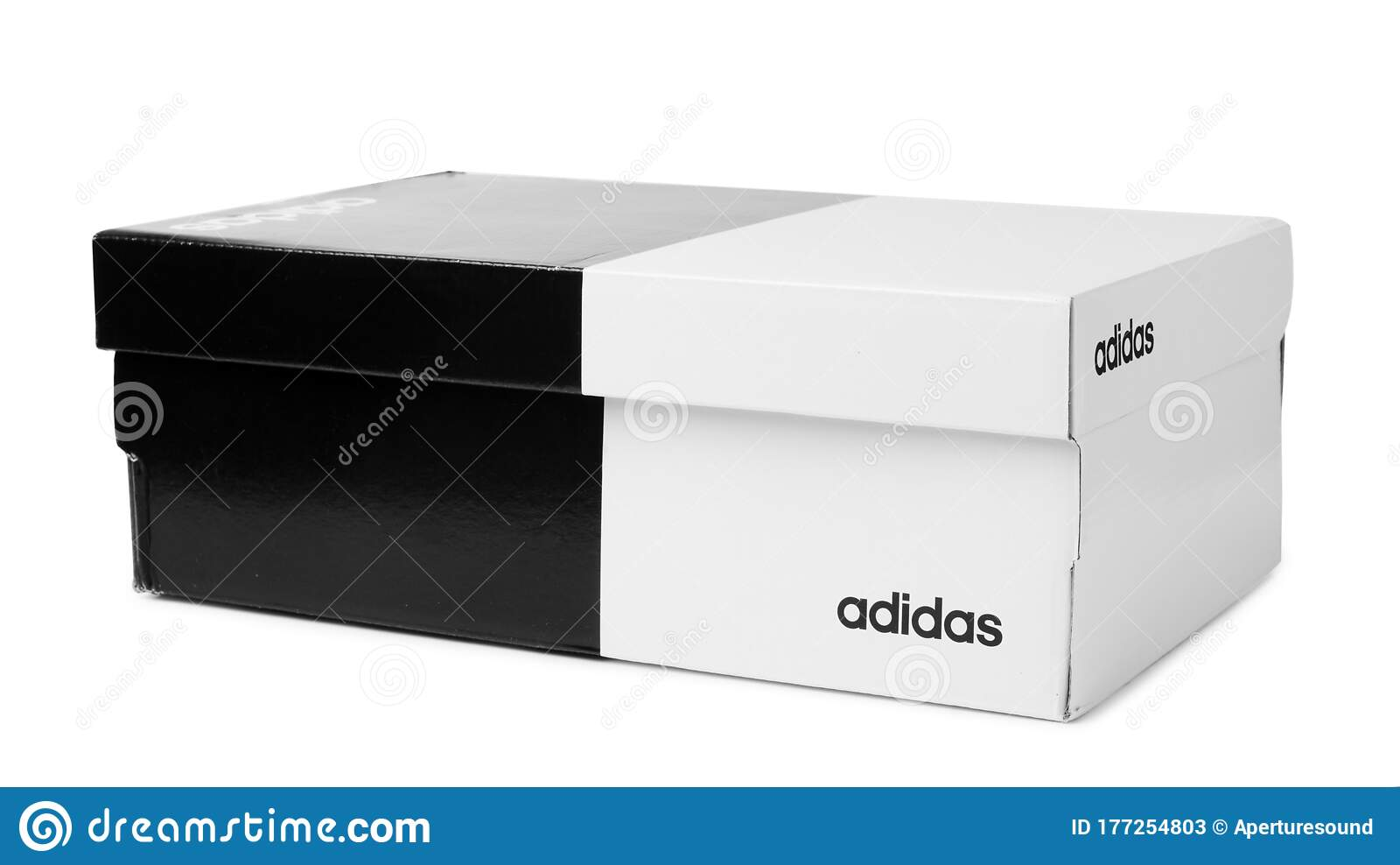 Adidas Shoes Box With Logo Isolated On A White Editorial Stock ...