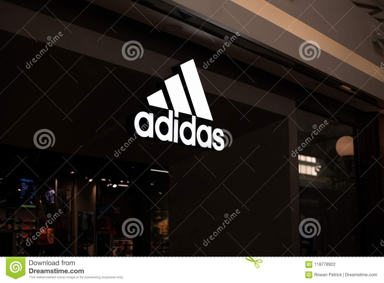 better big sale look out for Adidas Shop Logo editorial photography. Image of editorial ...