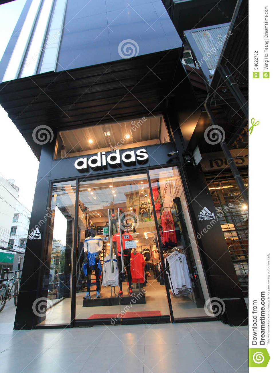 85f385885 Adidas shop in Thailand editorial photography. Image of square ...