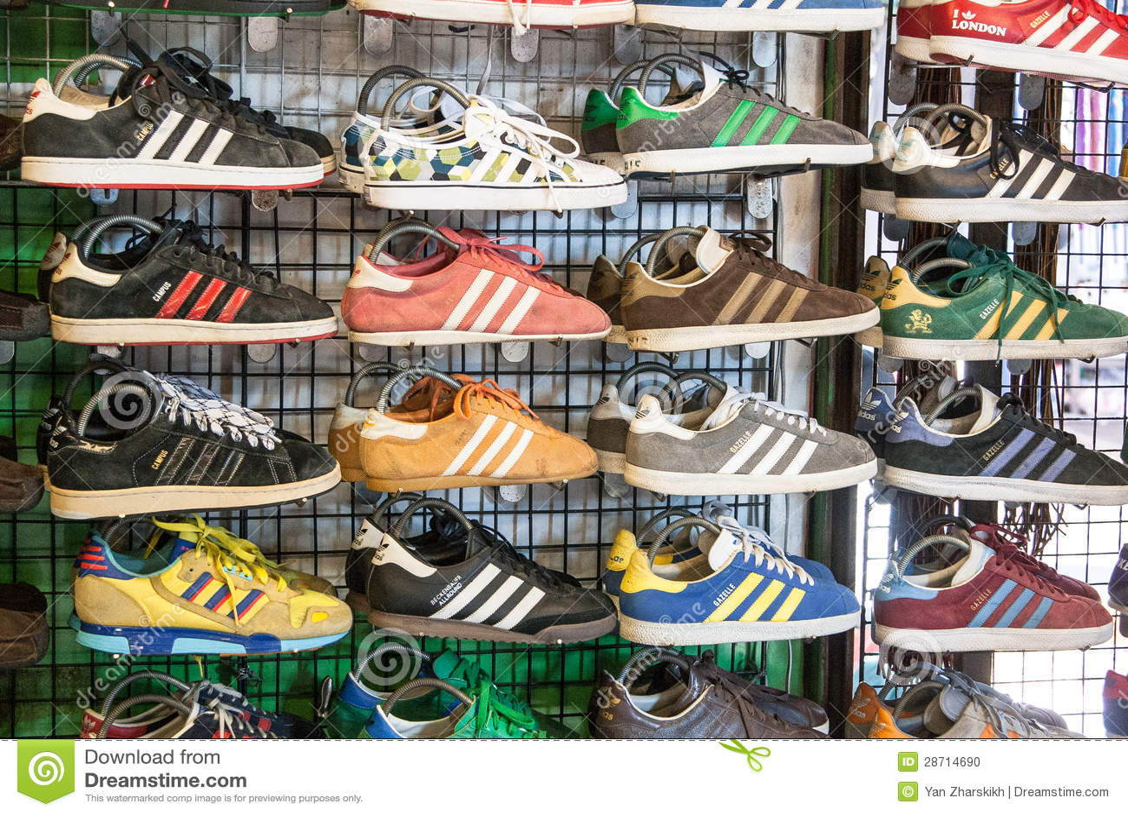 Adidas sneaker-shoes editorial image. Image of abundance - 28714690