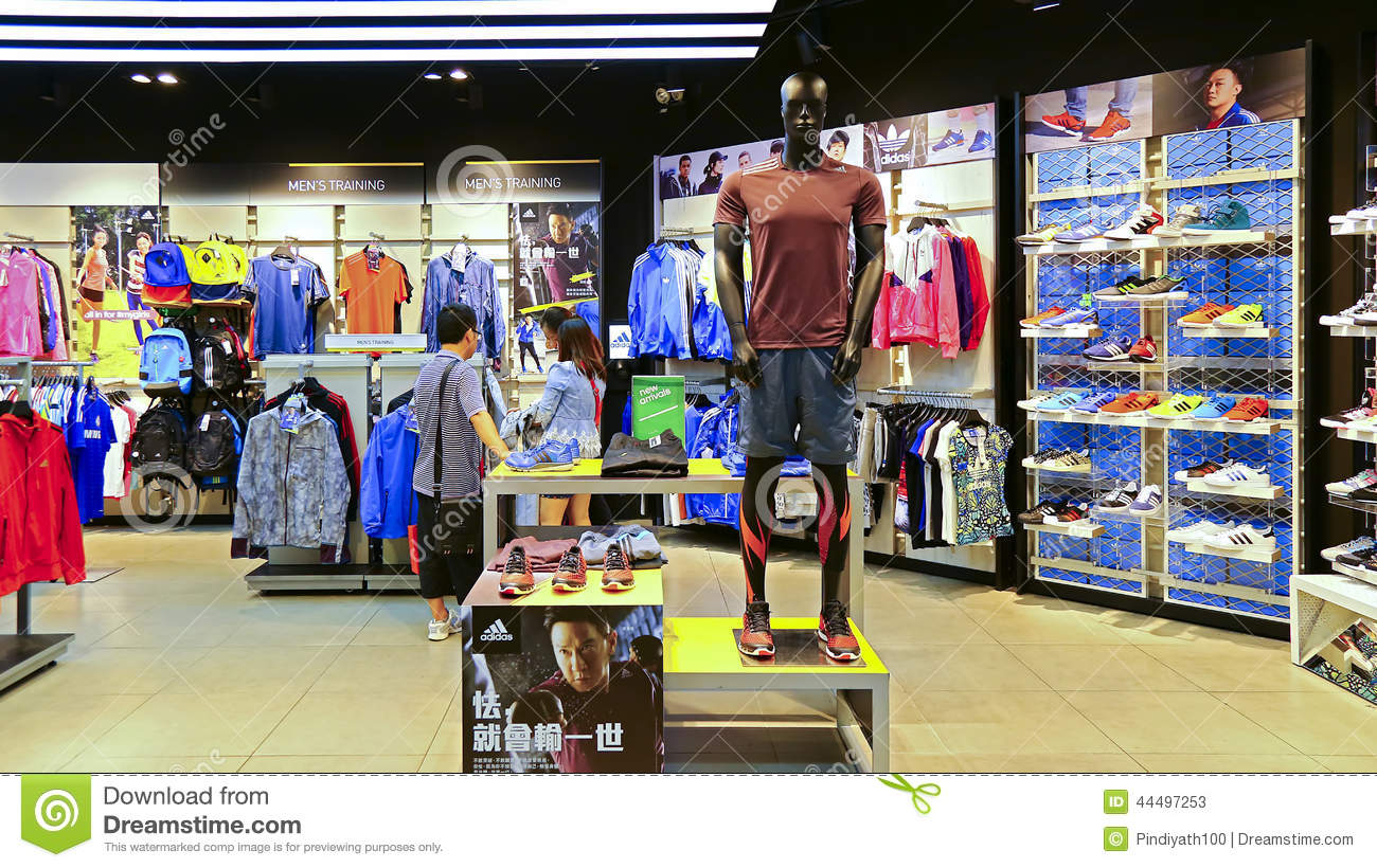 adidas sports retail store editorial stock photo image of