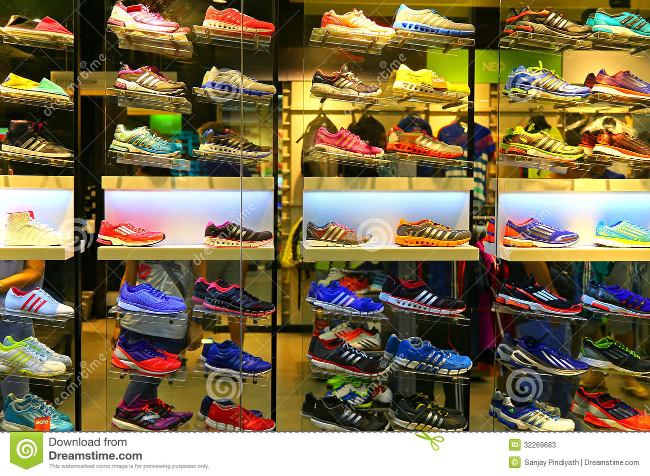 Adidas sports shoes editorial stock photo. Image of rubber - 32269683
