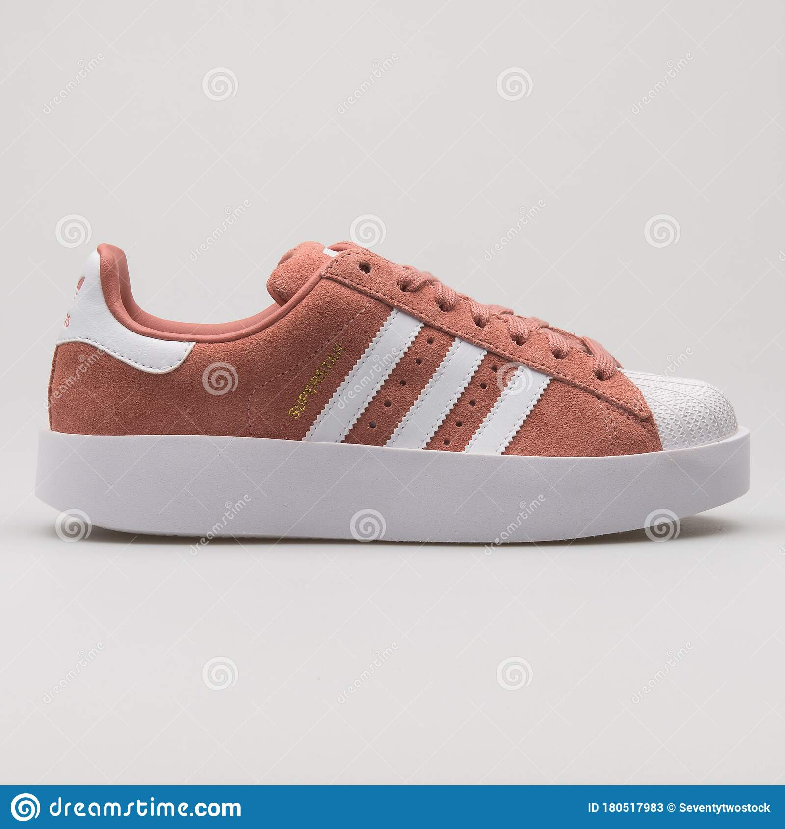 Adidas Superstar Bold Pink And White Sneaker Editorial Stock Photo ...