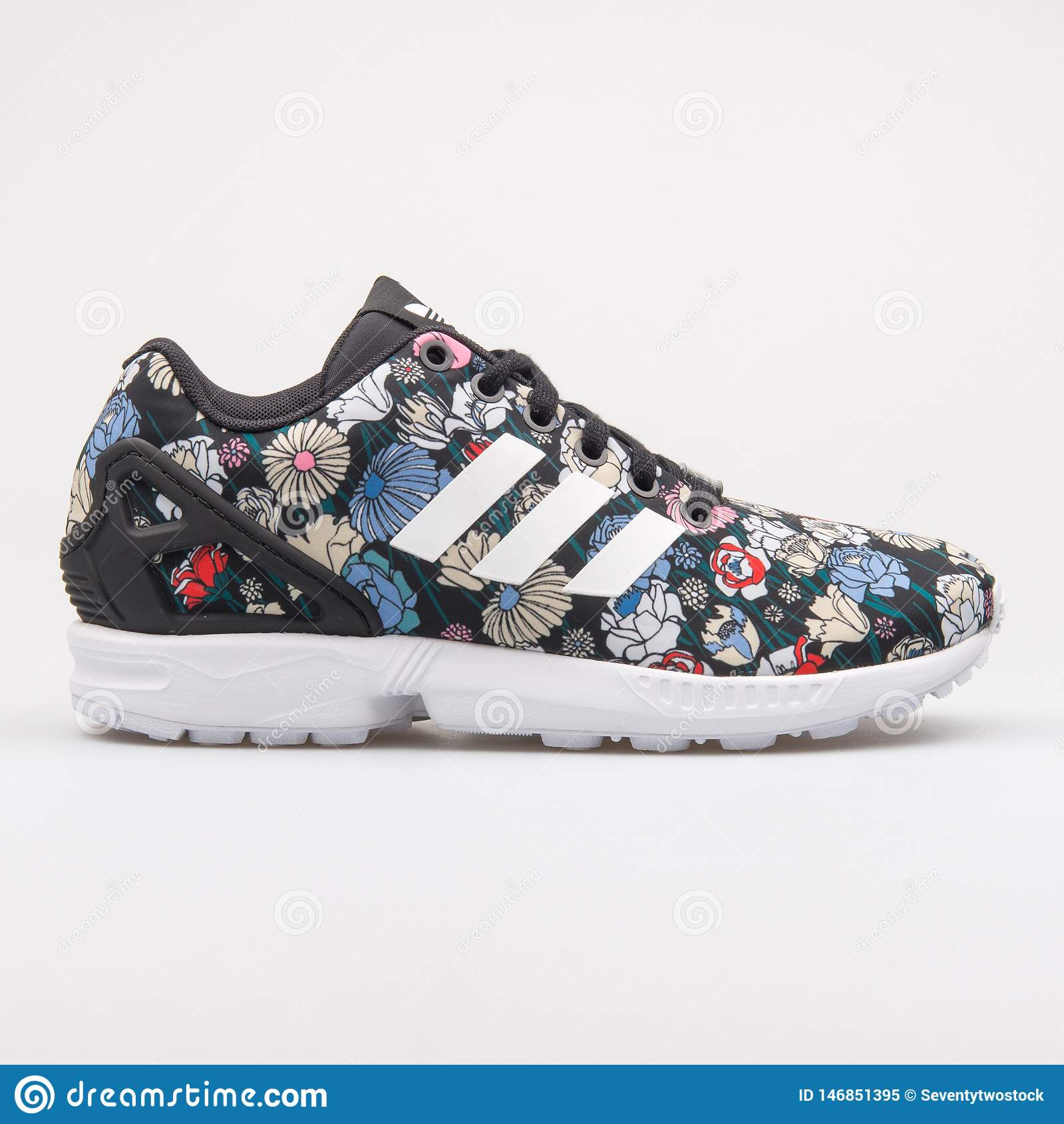 Adidas ZX Flux Black And Floral Print