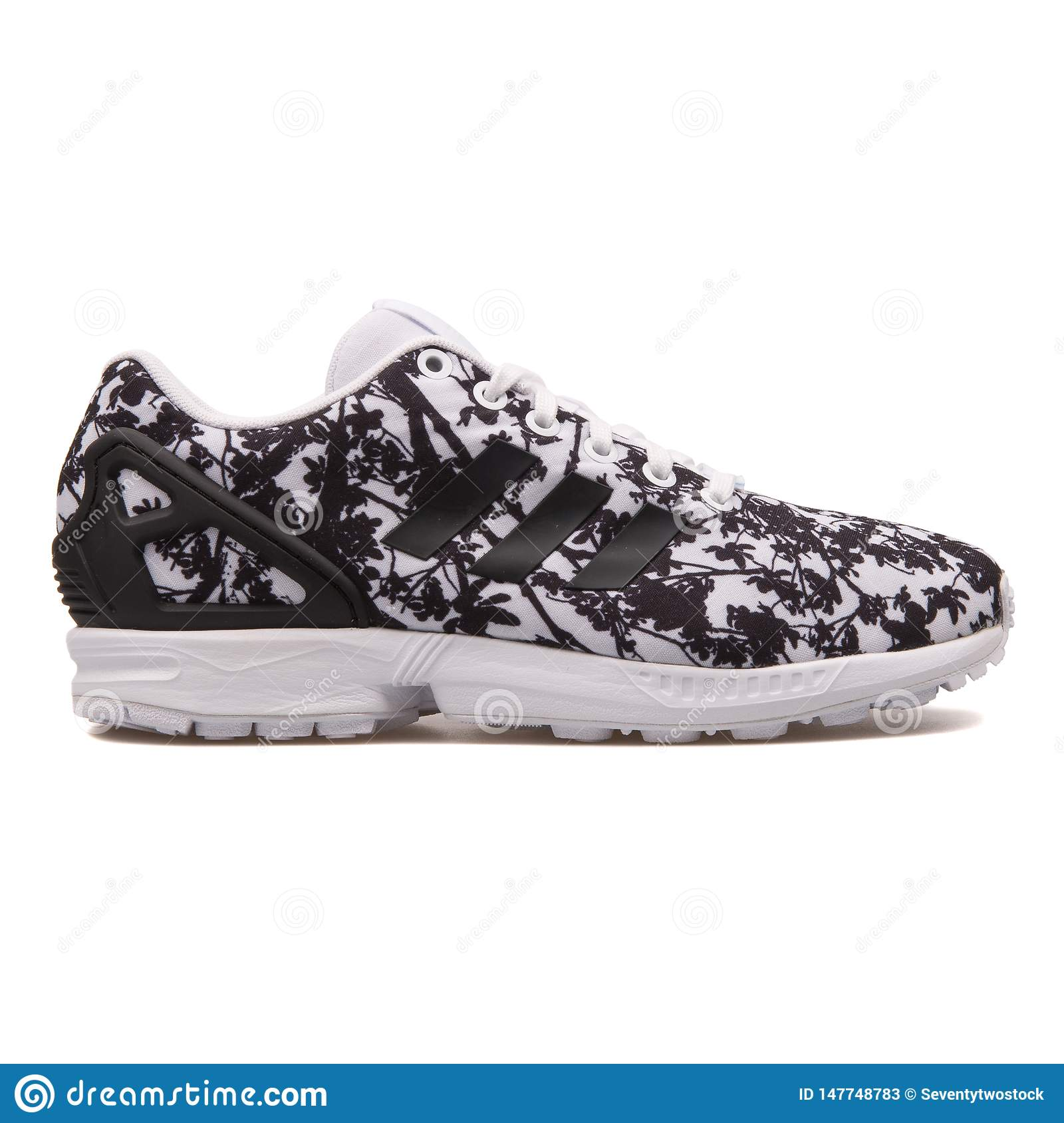 sports shoes ca469 ae5f4 Adidas ZX Flux Black And White Sneaker Editorial Stock Photo ...