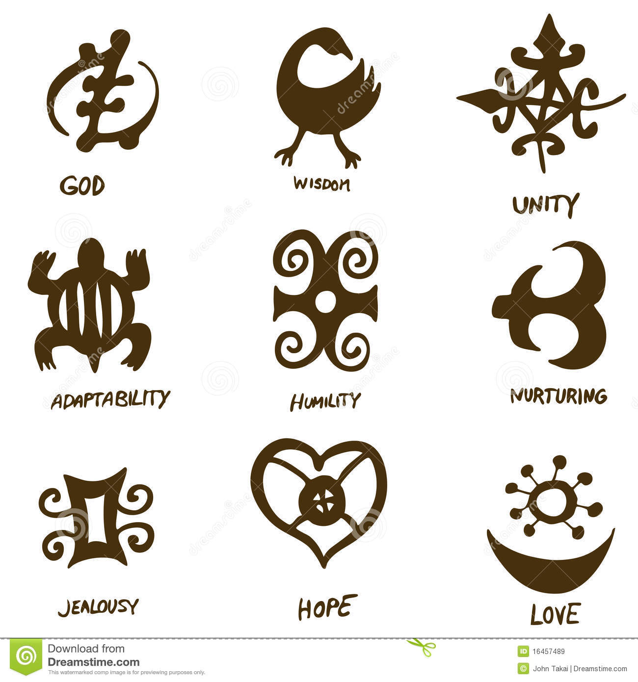 Adinkra Symbols Stock Vector Illustration Of Symbols 16457489