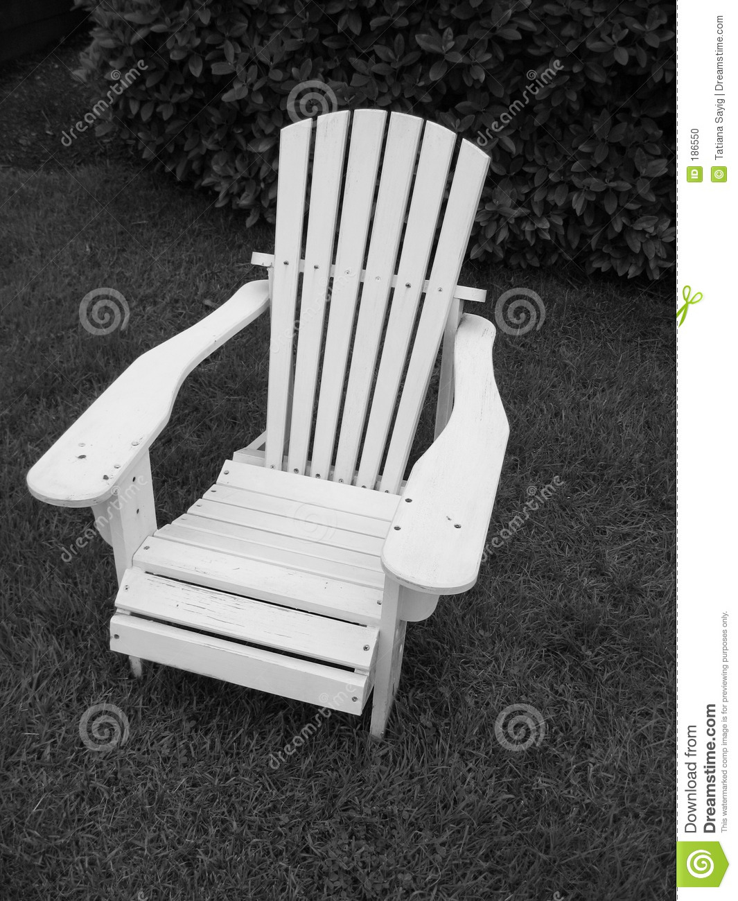 Adirondack Chair__Black y blanco