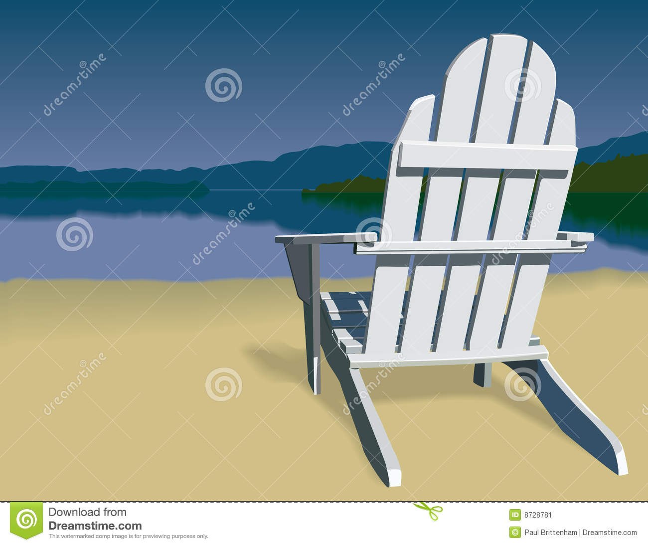 Adirondack Chairs On Beach. Adirondack Chair Scene Chairs On Beach C