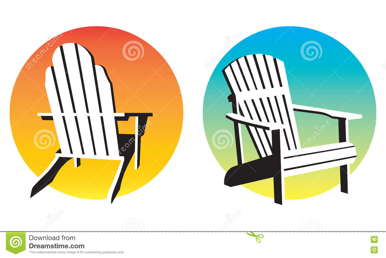 Adirondack Chair Sunset Graphics