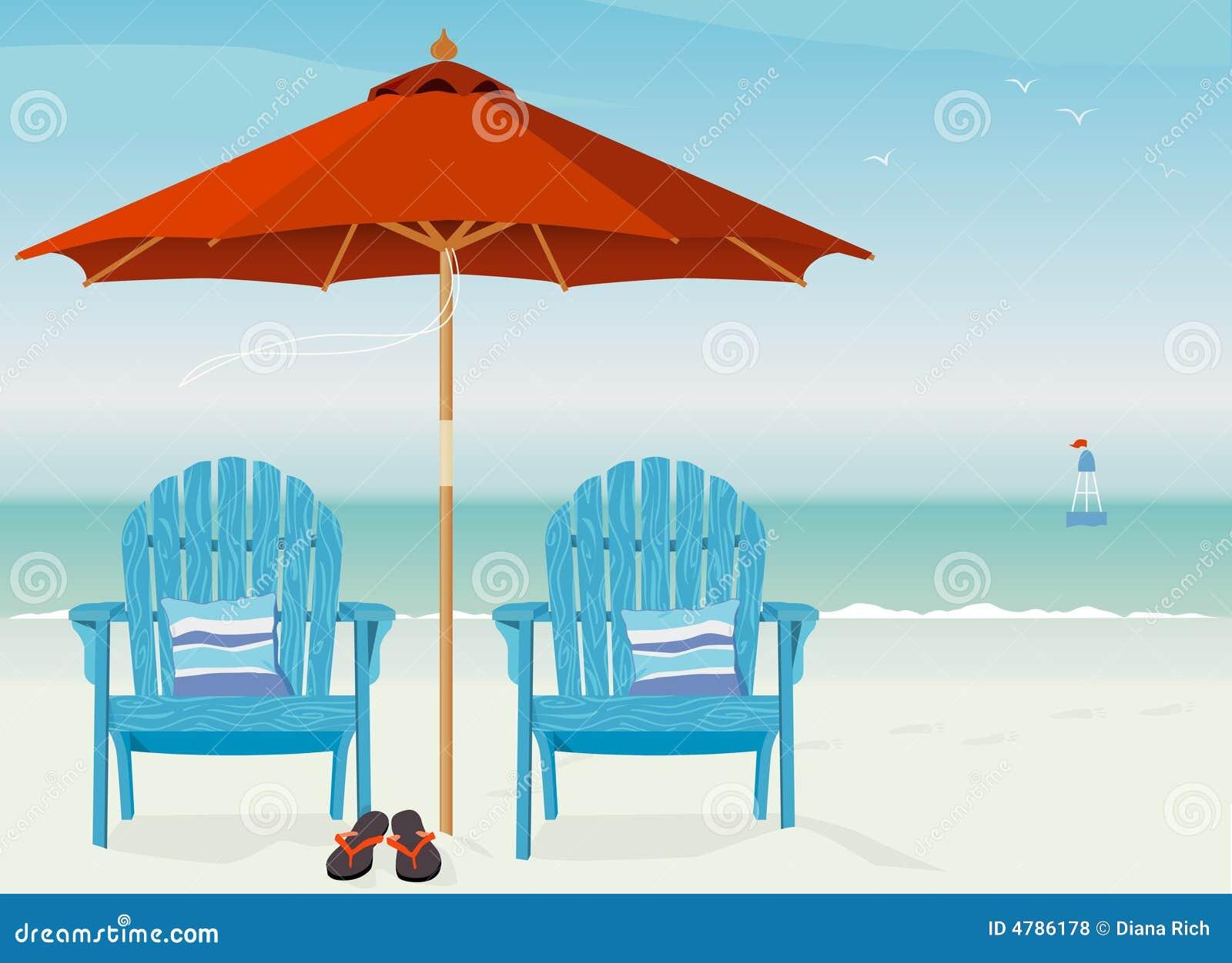 Adirondack plażowi krzesło