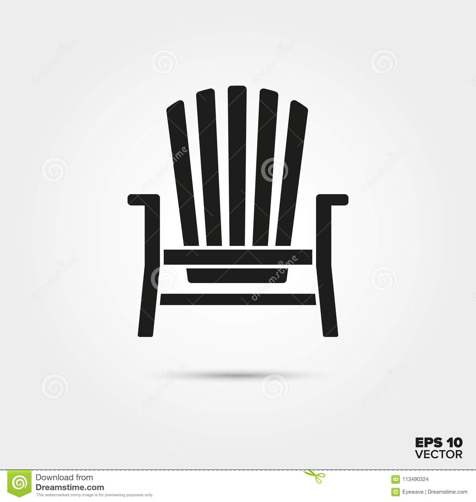 adirondack-stuhl-vektorikone vektor abbildung - illustration von