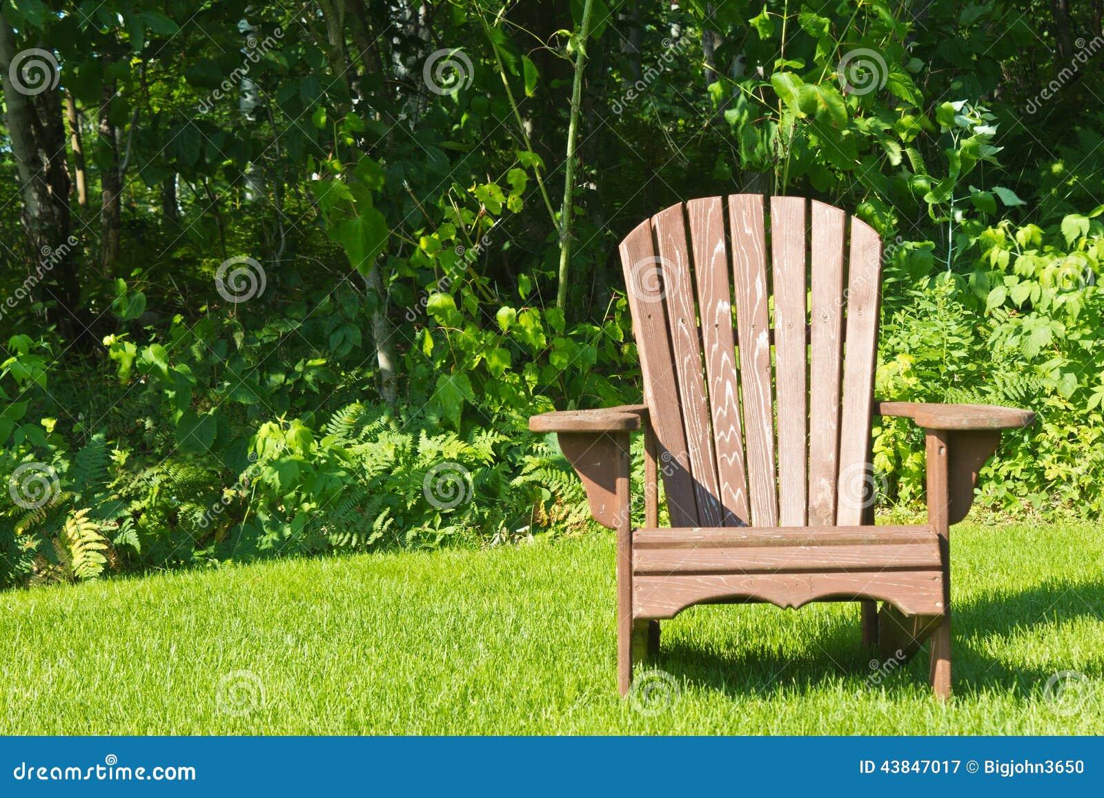 Adirondack Chair Grass Green Lawn Outside ...