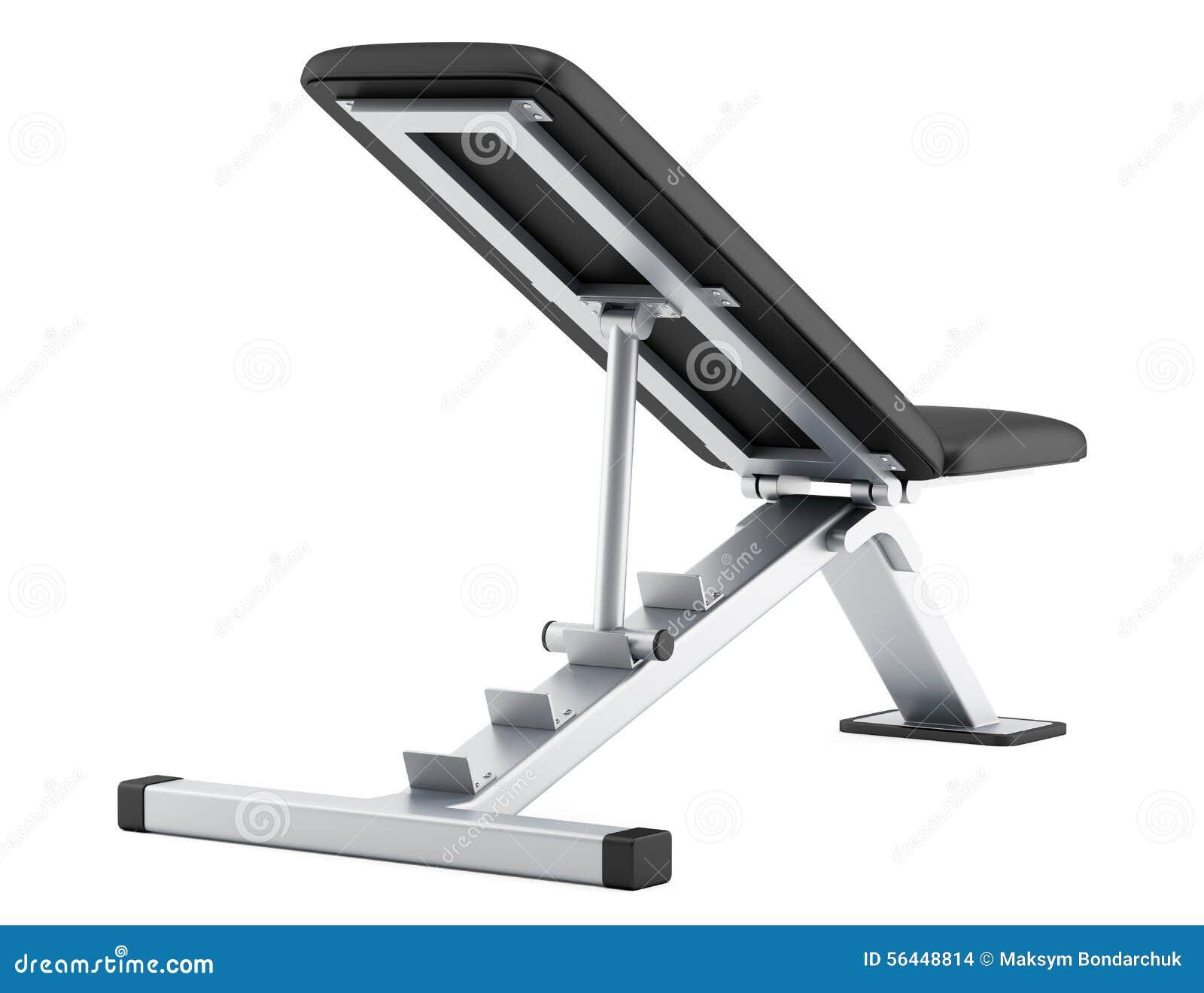 Adjustable Gym Bench Isolated On White Stock Illustration