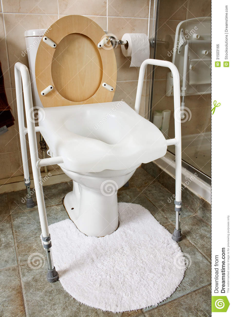 Adjustable Height Toilet Seat Stock Photo Image Of