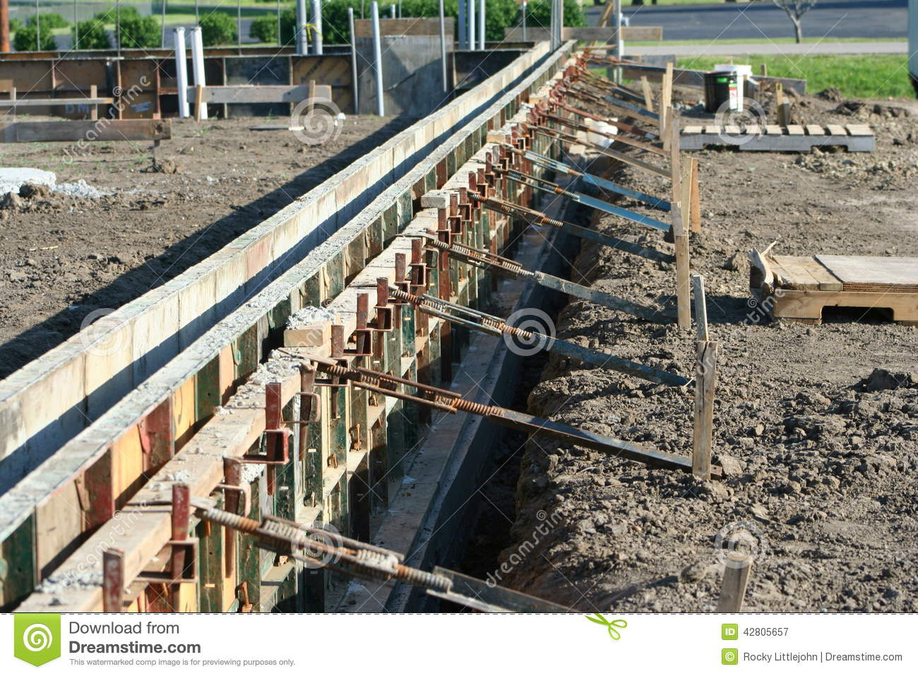 Adjustable wall forms stock image image of cement for Basement wall forms