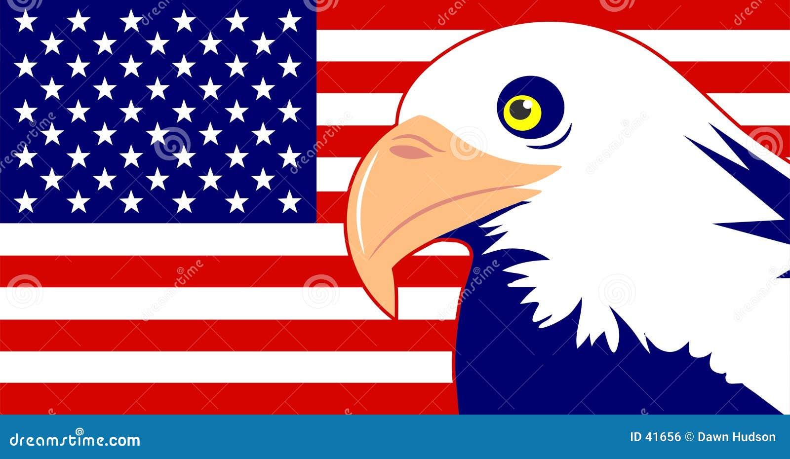 Adler und Markierungsfahne
