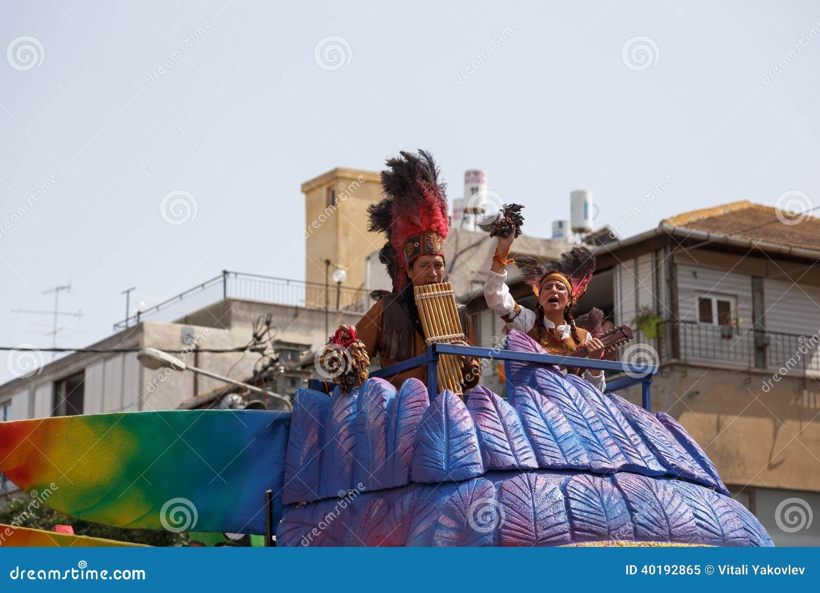 Adloyada Holon. Purim Carnaval. Israël