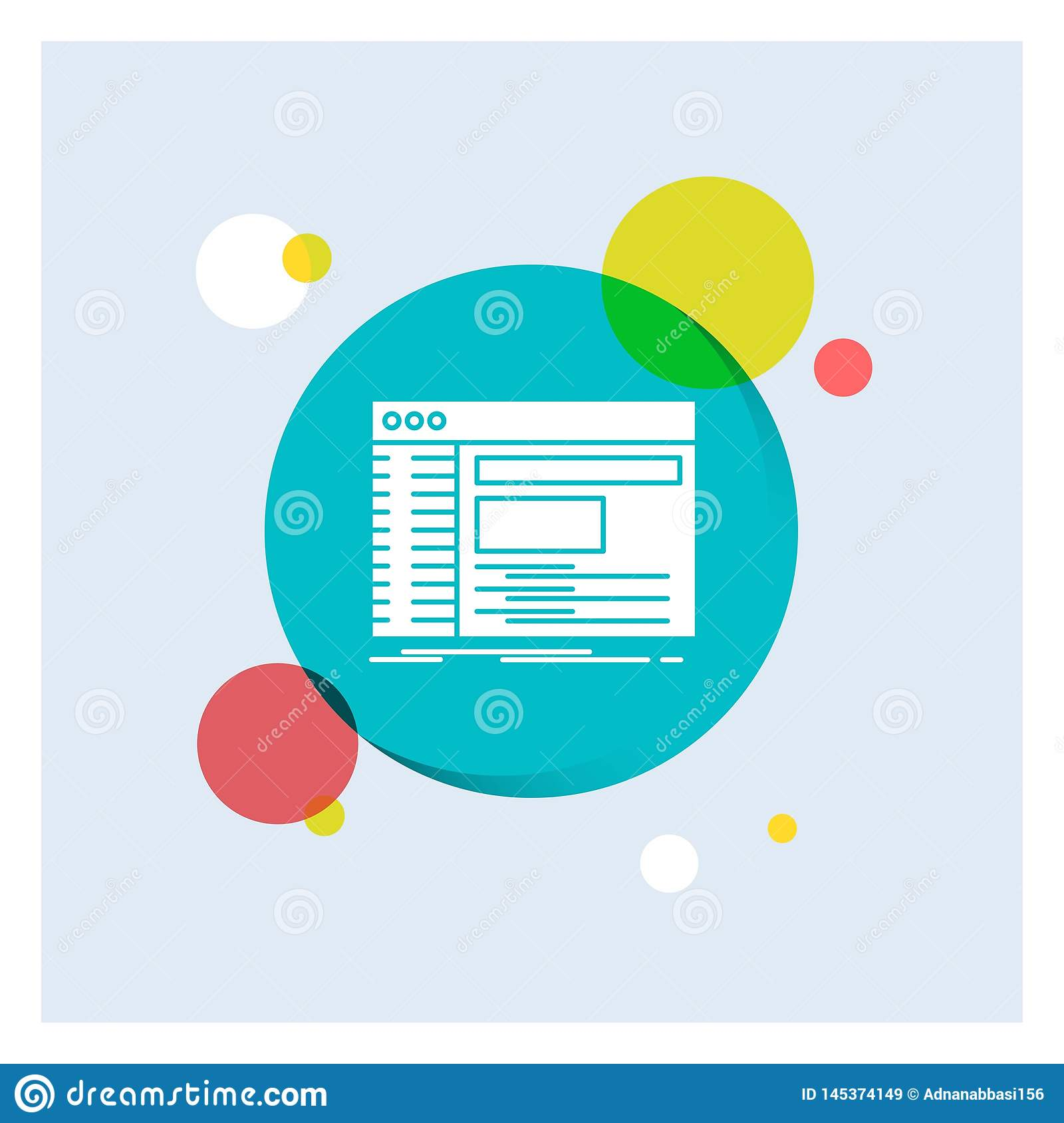 Admin Console Panel Root Software White Glyph Icon Colorful Circle Background Stock Vector Illustration Of Personal Panel 145374149