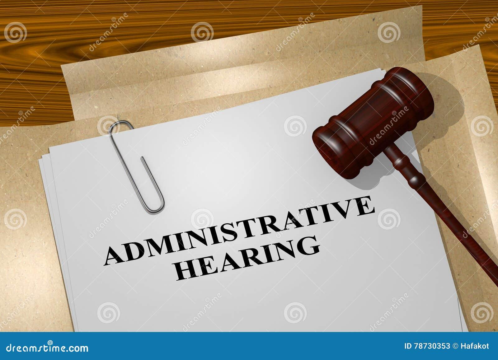 Administrativ utfrågning - lagligt begrepp