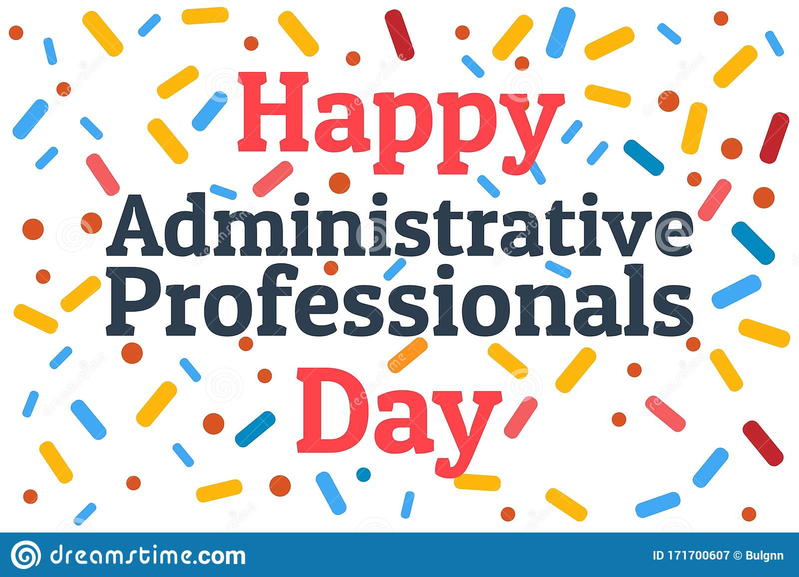 Administrative Professionals Day Secretaries Day Or Admin Day Holiday Concept Template For Background Banner Card Stock Vector Illustration Of Clerk Admin 171700607