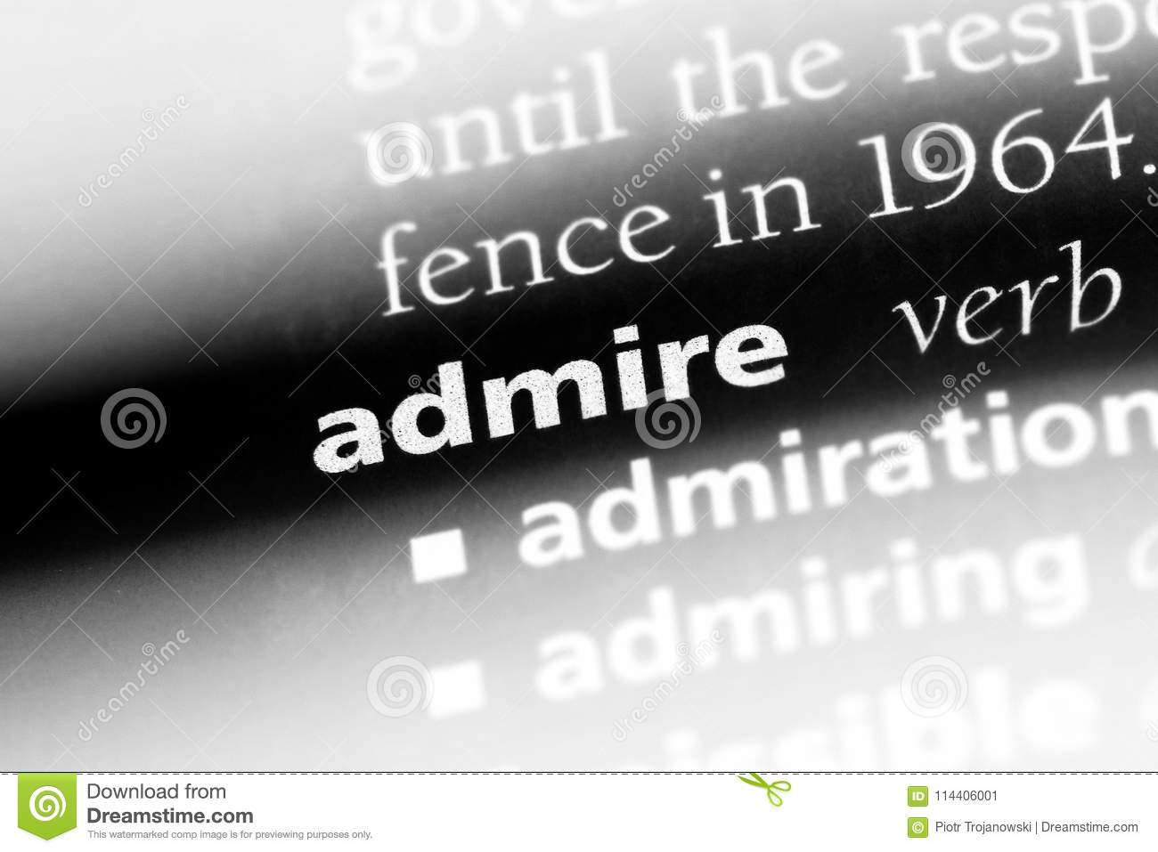 admire stock image. image of idea, page, definition - 114406001