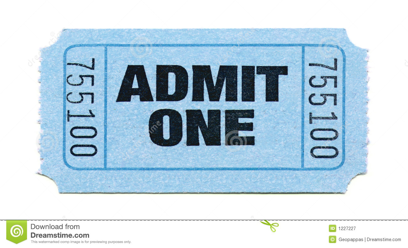 Admission-Ticket Royalty Free Stock Photography - Image: 1227227
