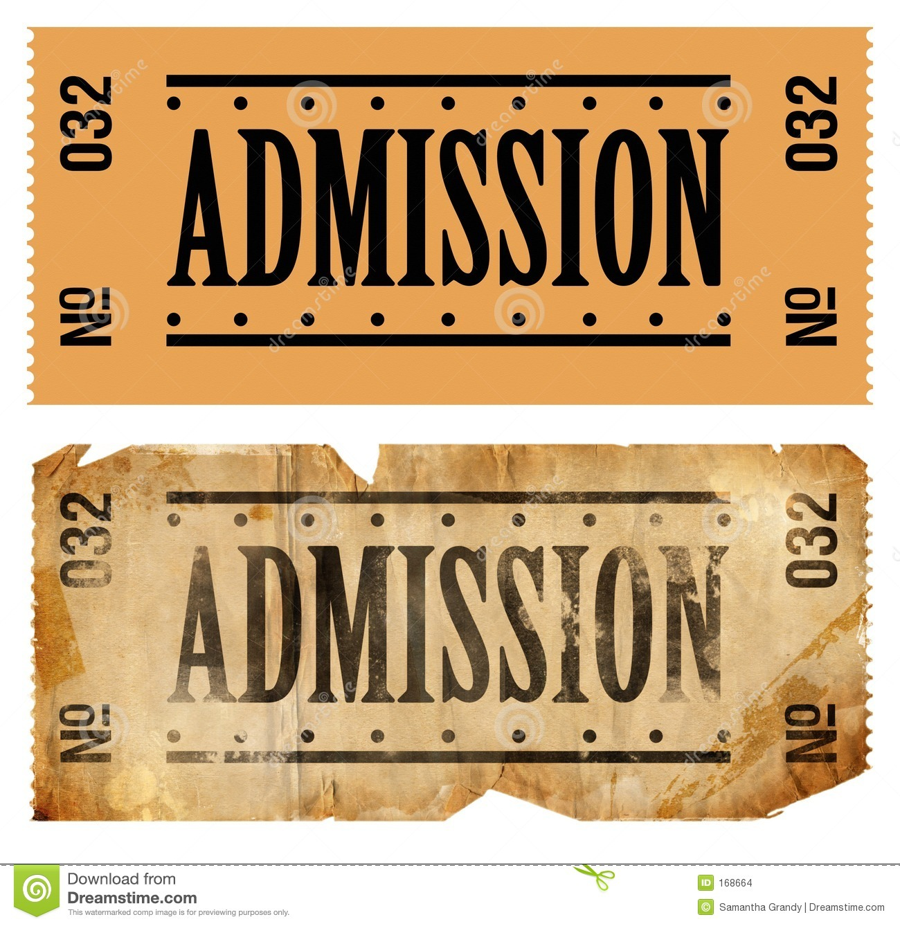 Admissions Ticket Stock Images Image: 168664 - 1300x1338 - jpeg