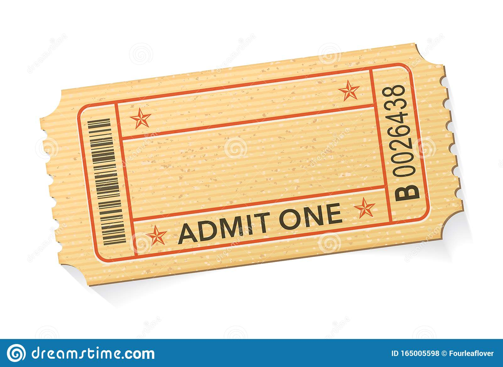 Admit One Event Ticket Template Stock Vector Illustration Of Elegant Blank 165005598