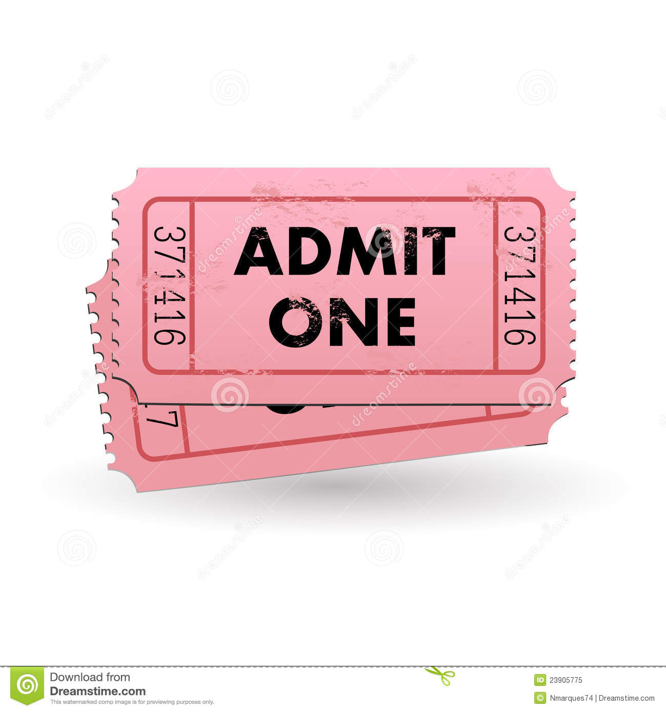 admit one ticket stock vector  image of paper  entrance
