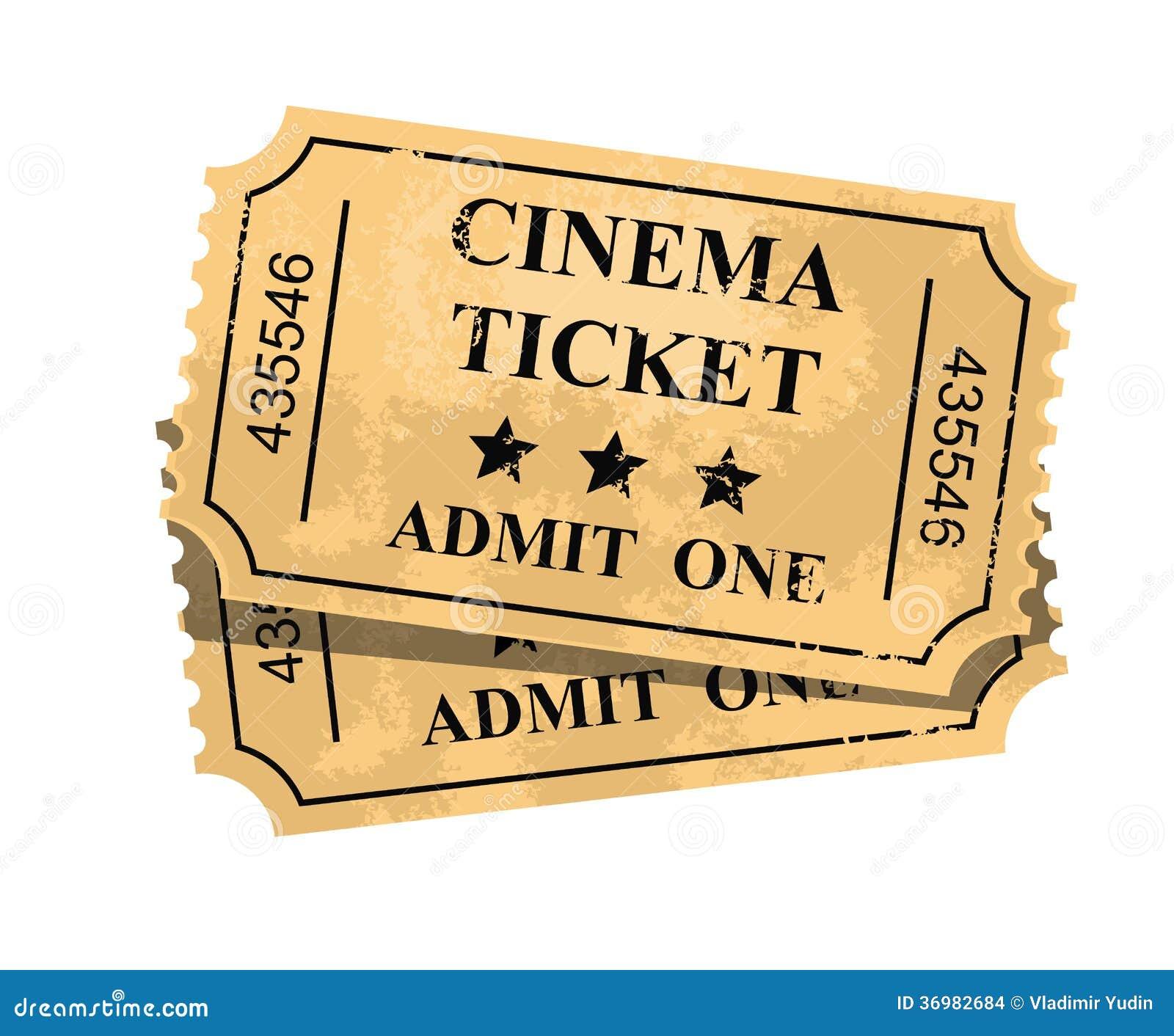 movie admit one ticket template .