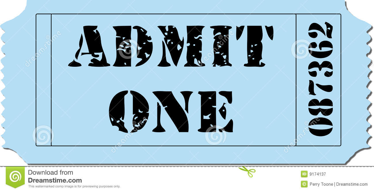movie admit one ticket template