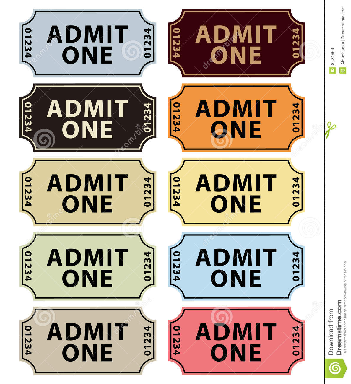 admit one tickets collection stock images image 8924964 clipboard clip art images clapboard clipart free
