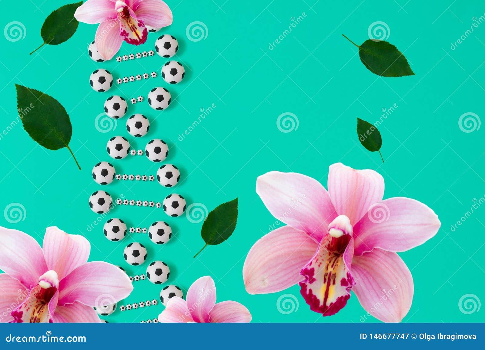 ADN du football sur le fond bleu