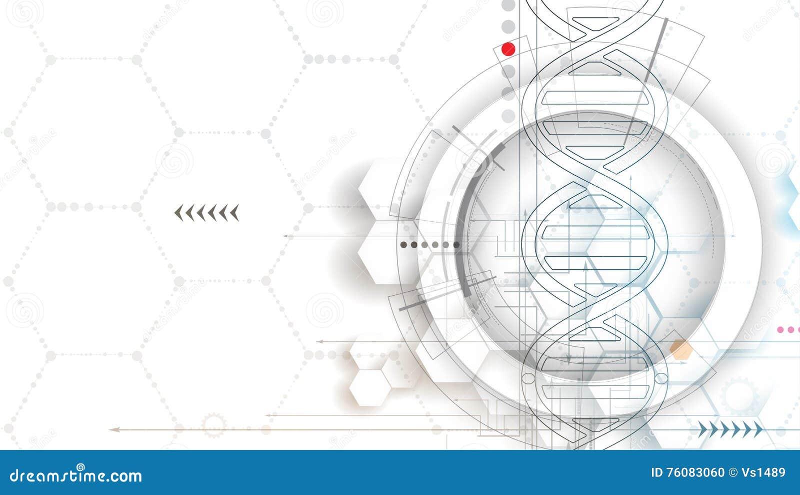 ADN et fond médical et de technologie molécule futuriste s