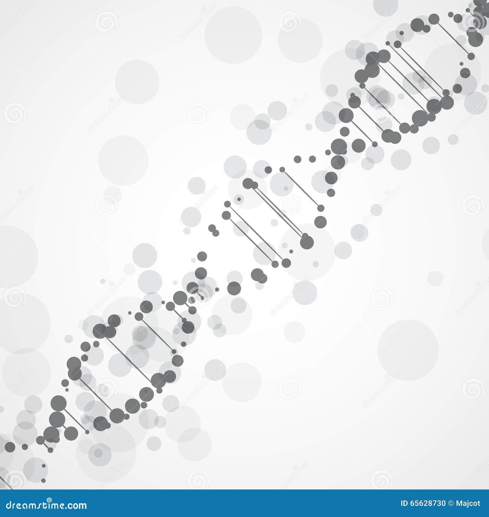 ADN futuriste abstraite