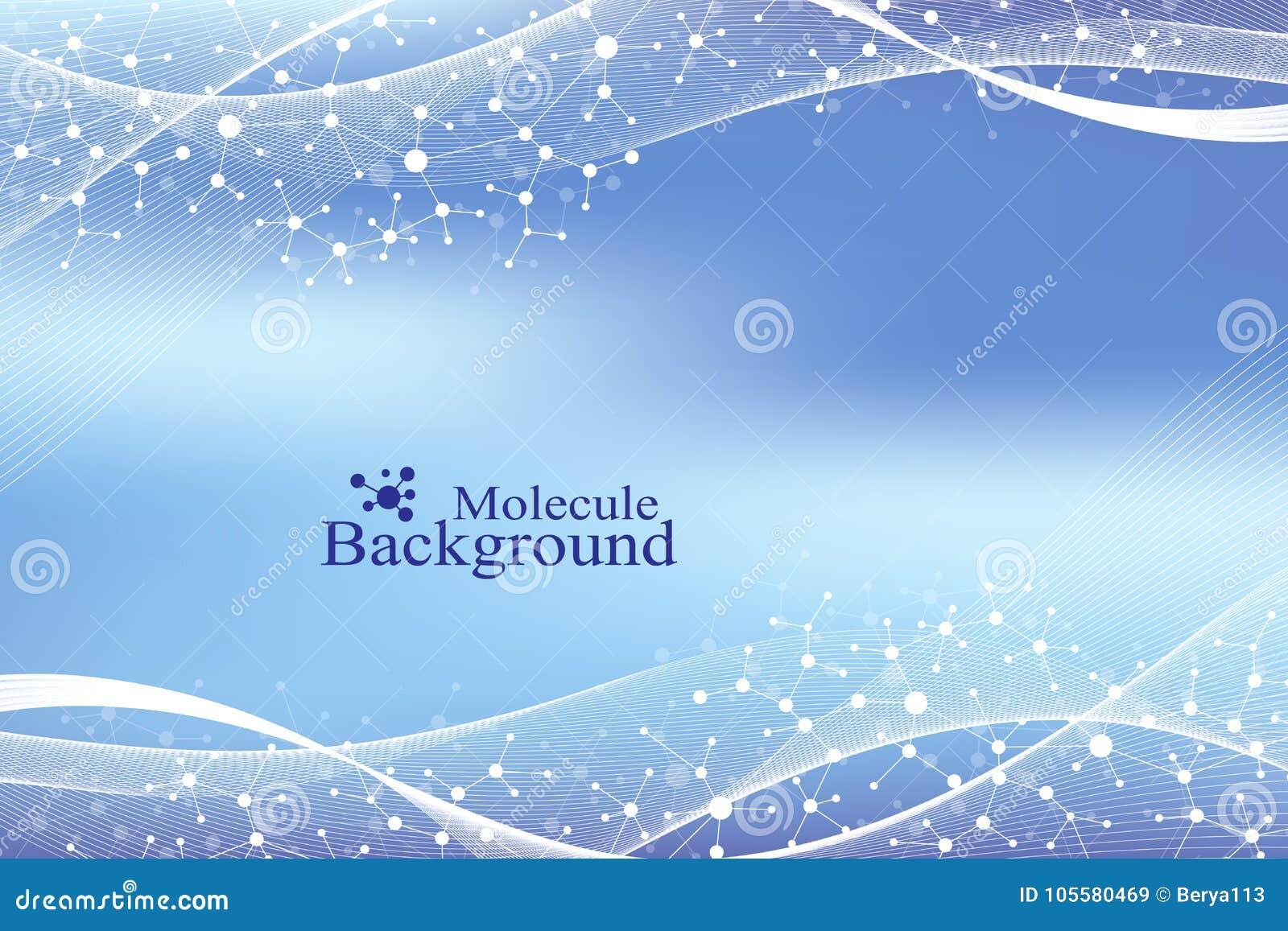 ADN moderne de molécule de structure atome Molécule et fond de communication pour la médecine, la science, technologie, chimie