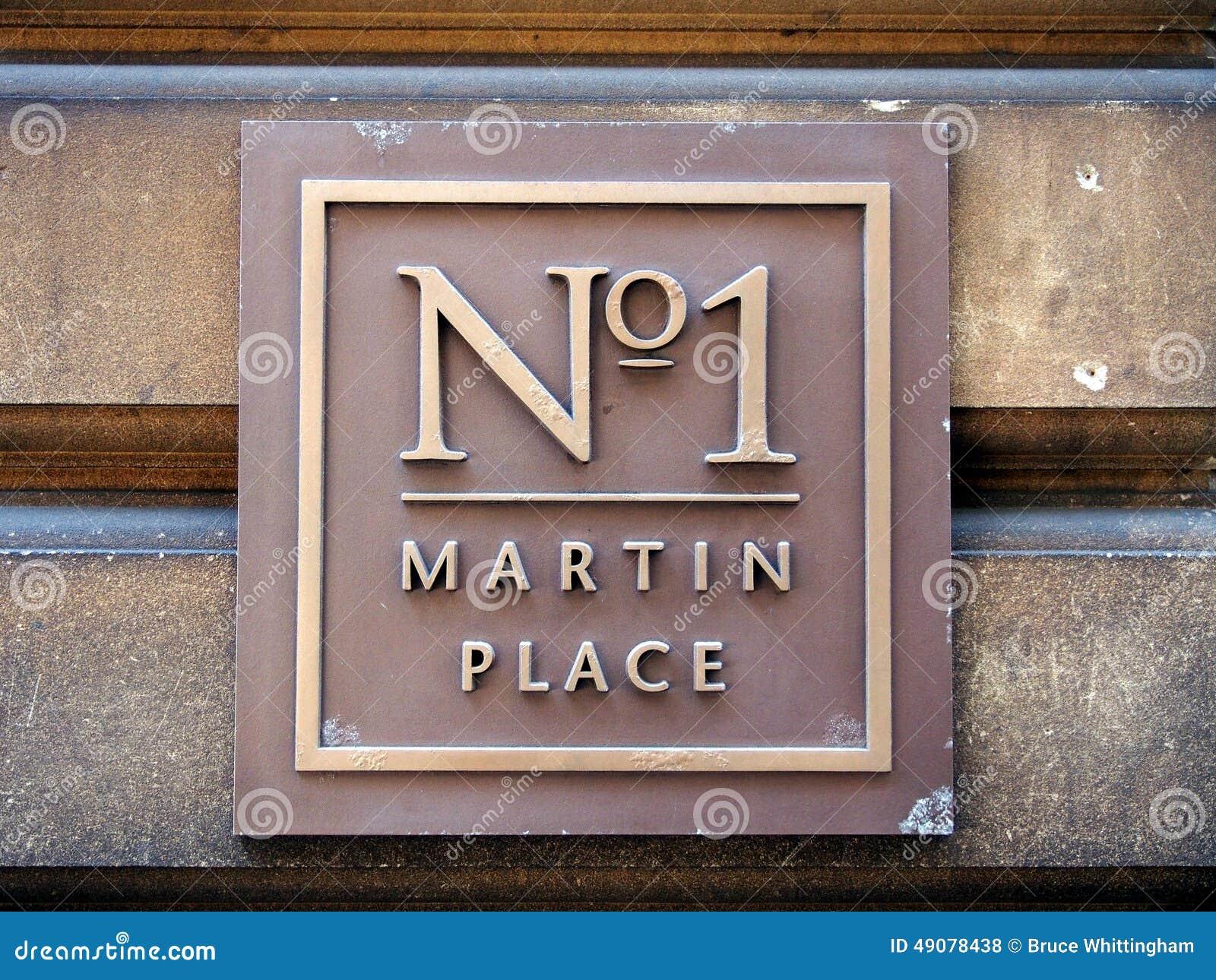Żadny 1 Martin miejsca znak uliczny