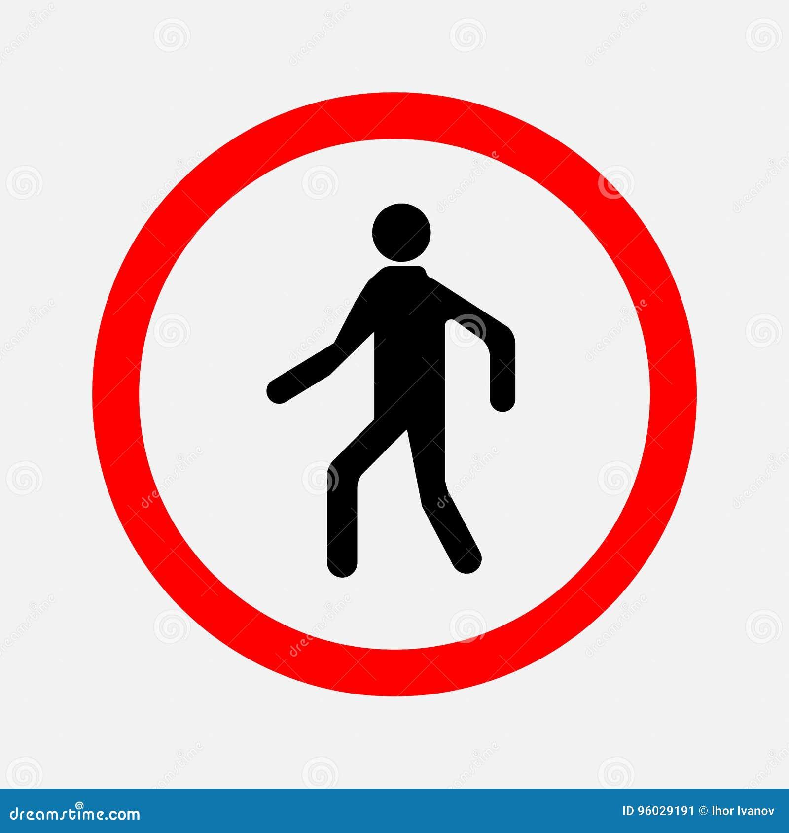 Żadny skrzyżowanie Zabraniający podpisuje odprowadzenie mężczyzna