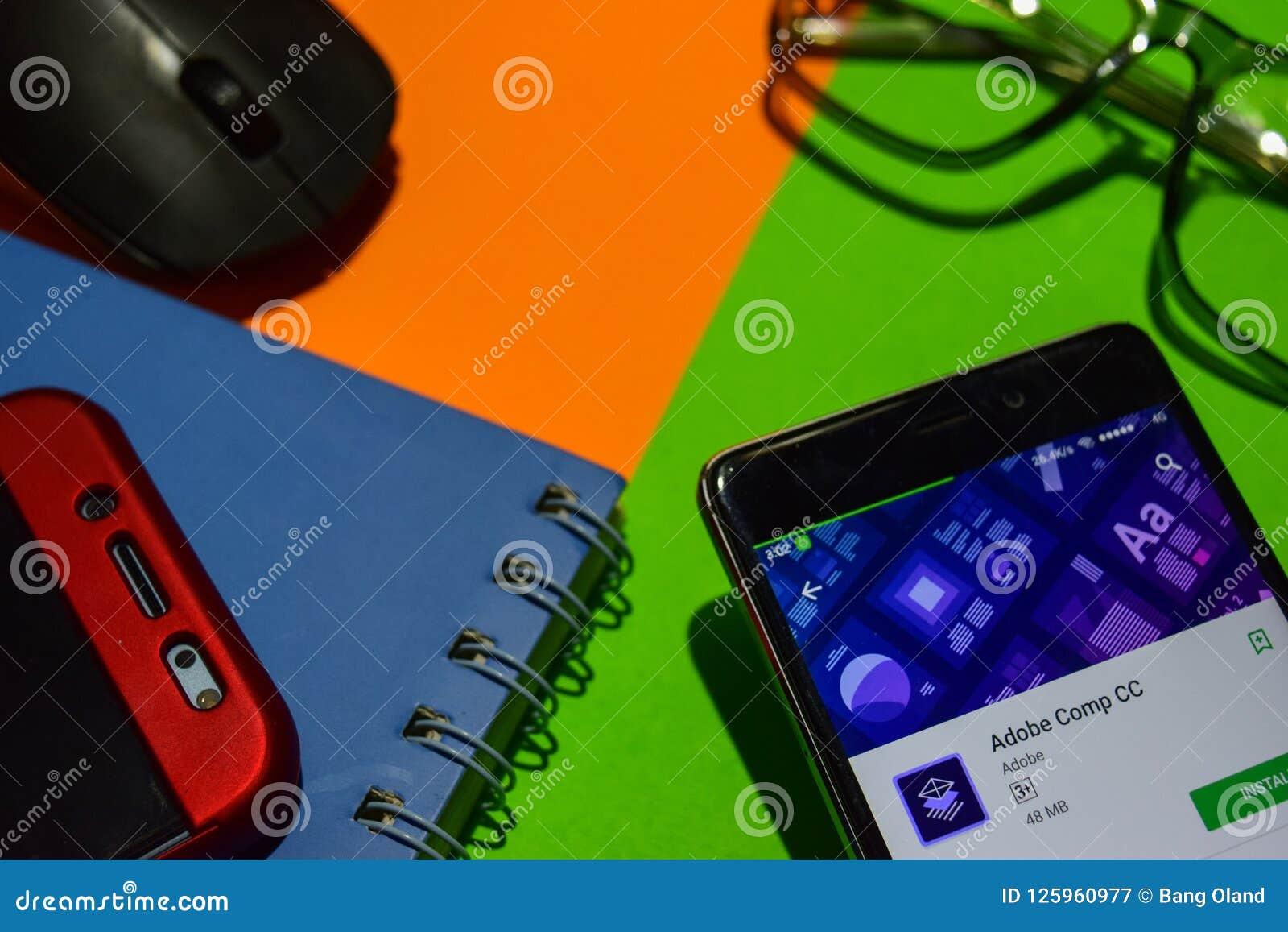 Adobe在智能手机屏幕上的Comp CC dev app