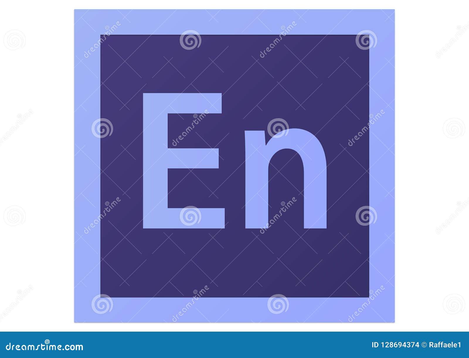 adobe encore cs6 logo editorial stock image illustration of logo