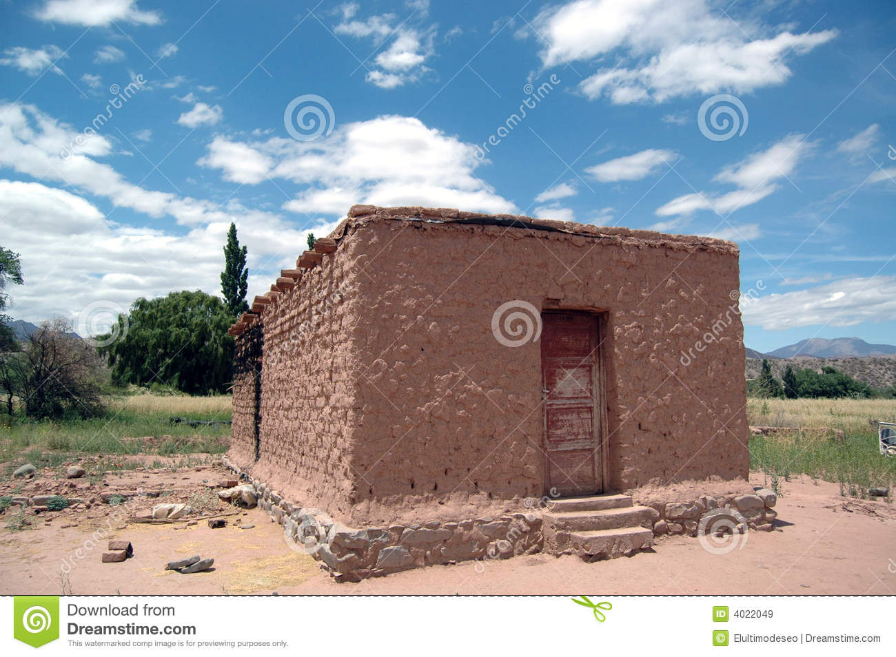 Adobe house royalty free stock images image 4022049 for Adobe home construction